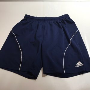 Adidas thin navy blue basketball shorts size Small
